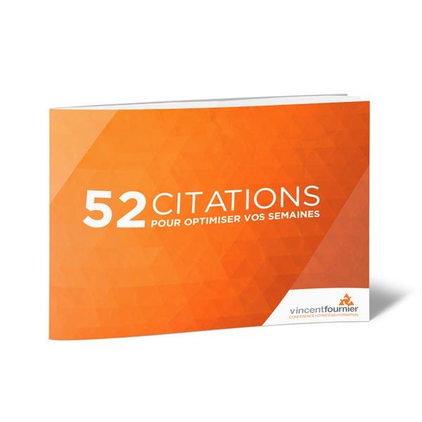 Livre numérique «52 citations inspirantes» de Vincent Fournier