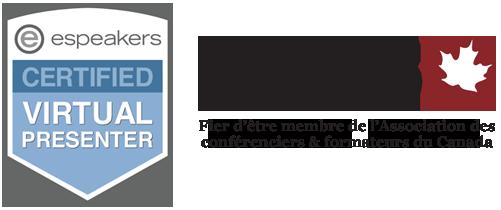 Vincent Fournier est certifié espeakers et est membre de l'association des conférenciers et formateurs du Canada